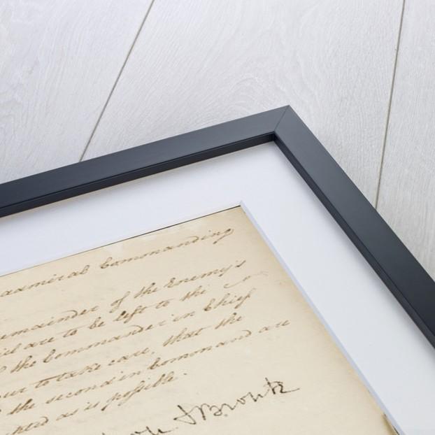Nelson's secret memorandum, page three by Horatio Nelson