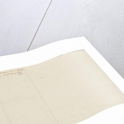 Nelson's secret memorandum, back page by Horatio Nelson