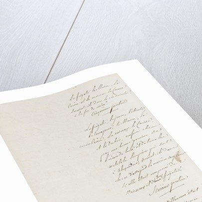 Letter from Napoleon Admiral Ganteaume, page two by Napoleon Bonaparte