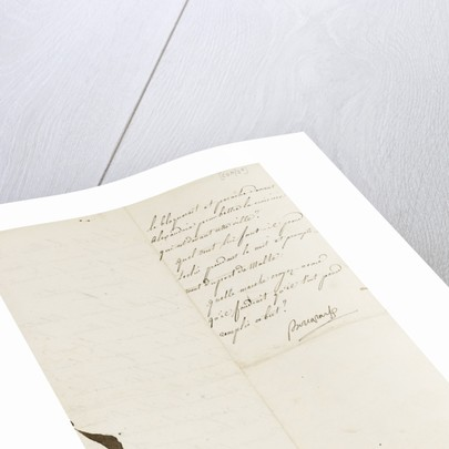 Letter from Napoleon Admiral Ganteaume, back page by Napoleon Bonaparte
