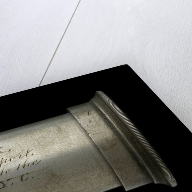 Officer of the Watch telescope- draw tube inscription by William Cox