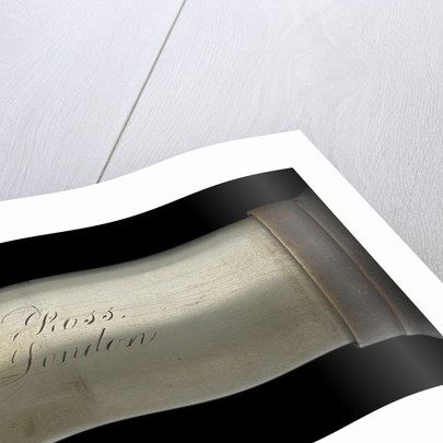 Officer of the Watch telescope- draw tube inscription by Andrew Ross