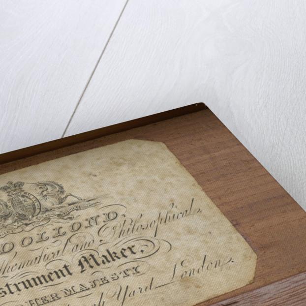 Naval telescope- label inside case by Dollond