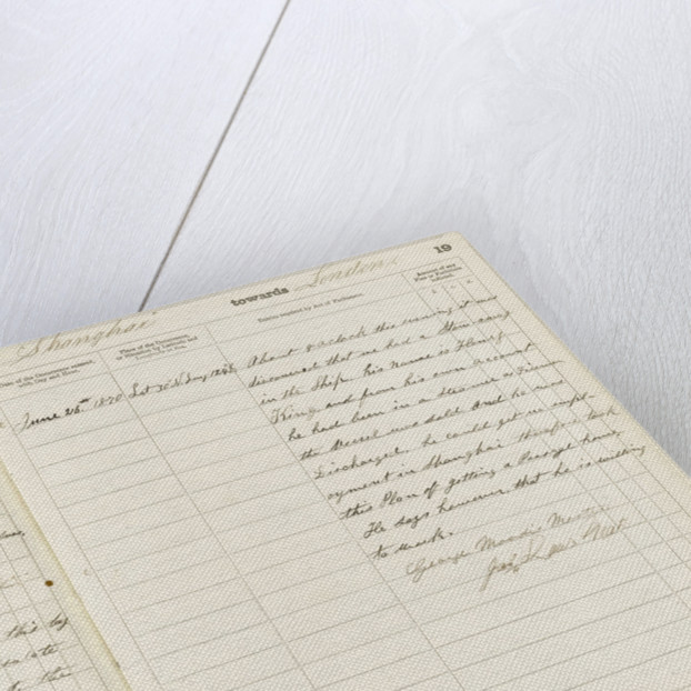 'Cutty Sark' official logbook (1869), log of occurrences by unknown