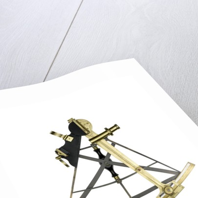 Sextant, brass - Gilbert & Wright - front by Gilbert & Wright
