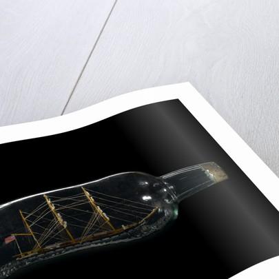 Ship model in a bottle by Robert Orr