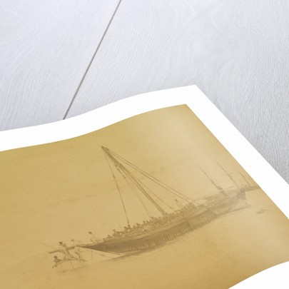 'Boarding a slave dhow' (Arab sailing vessel) by unknown