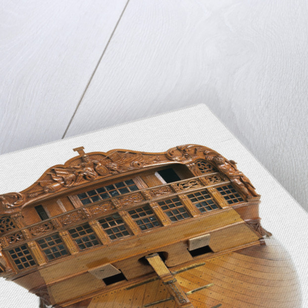 A contemporary dividing full hull model of the 'Washington' (1797), a Dutch 74-gun, two-decker ship of the line by unknown