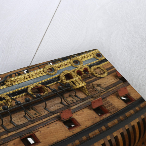 Ship of 96 guns, portside entry ports by unknown