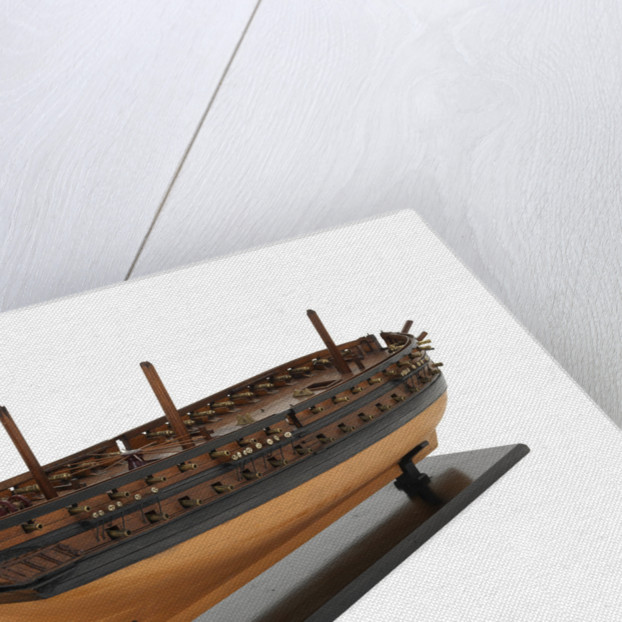 Ship of 60 guns, starboard stern quarter by unknown