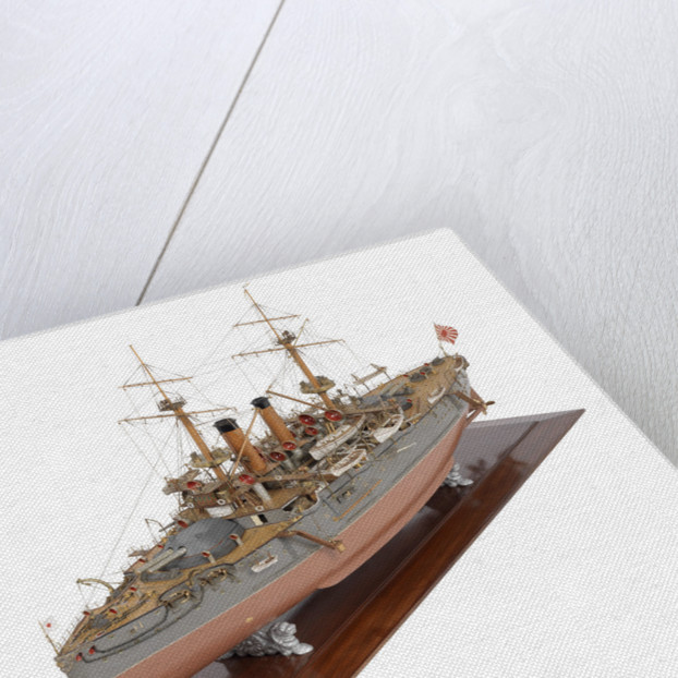 Shipbuilder's model of Japanese battleship HIJMS 'Fuji' (1896) by E. Roberts