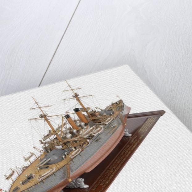 Shipbuilder's model of Japanese battleship HIJMS 'Fuji' (1896) by E. Roberts