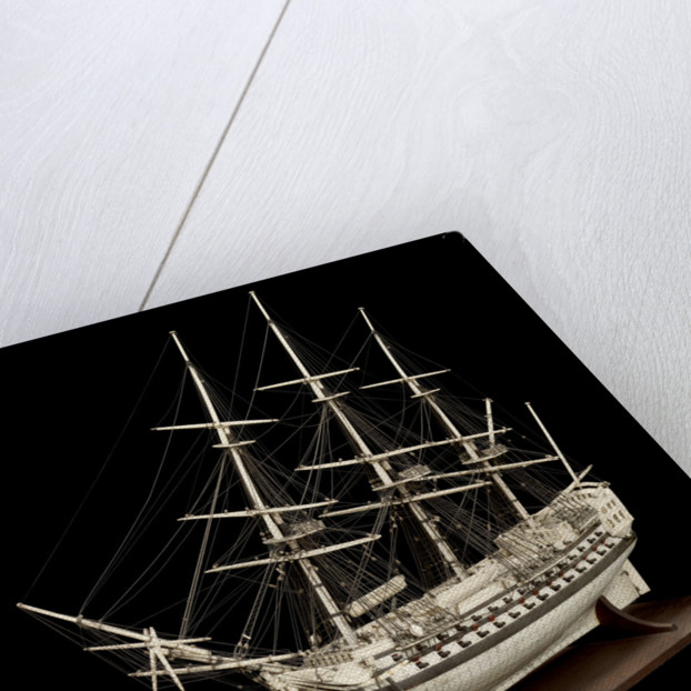 French Prisoner of War model of a Two-Decker by unknown