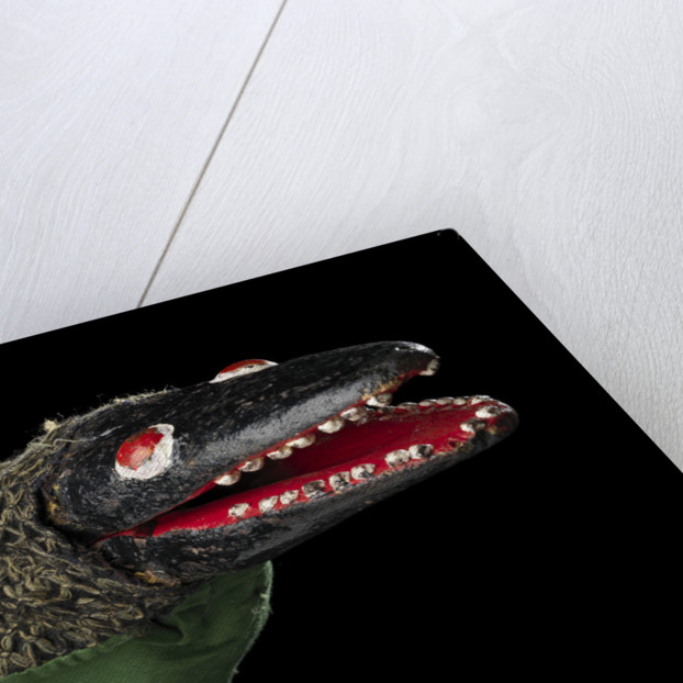 Puppet 'Crocodile', part of Punch and Judy set by unknown