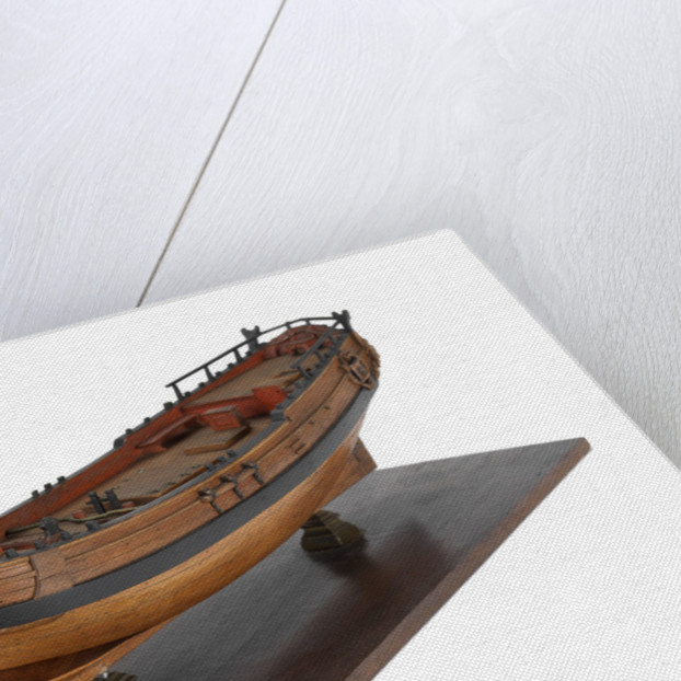 Full hull model of a single-masted hoy or yacht by unknown