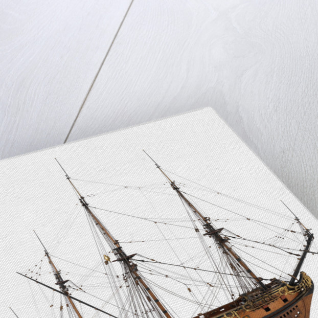 Model of a warship (1685), 40 guns by unknown