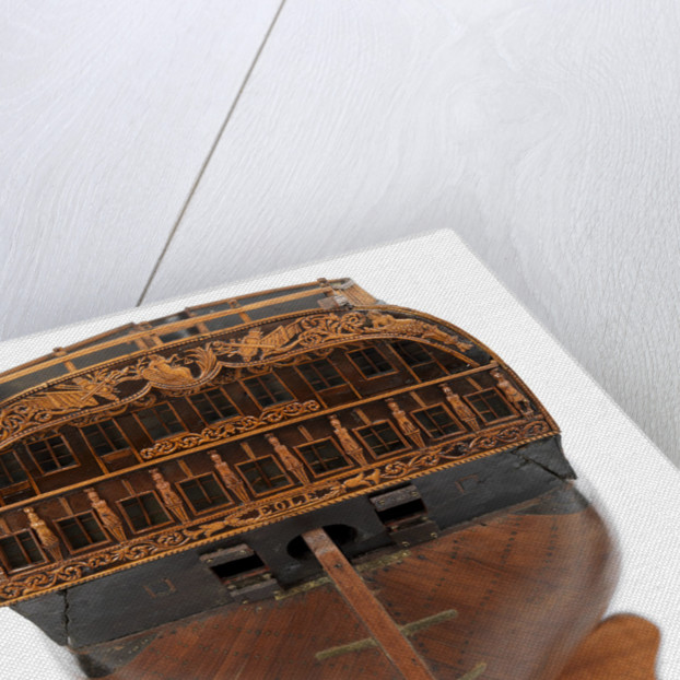 Contemporary full hull model of the 'L'Éole' (1789), a French 74-gun two-decker ship of the line by unknown