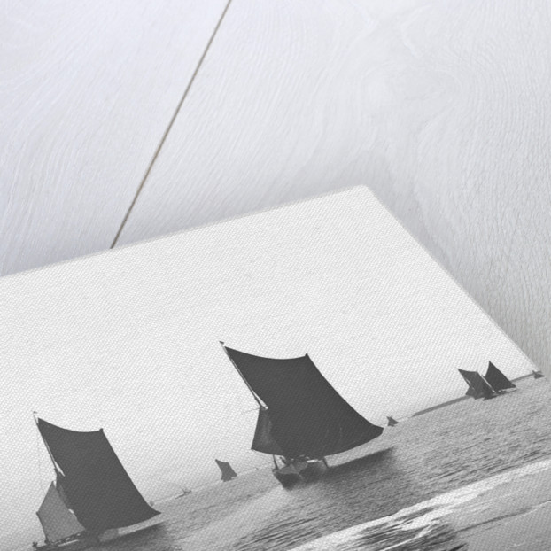 'Satanita' (Br, 1897) racing with 'Giralda' (Br, 1897) in the Thames match by unknown