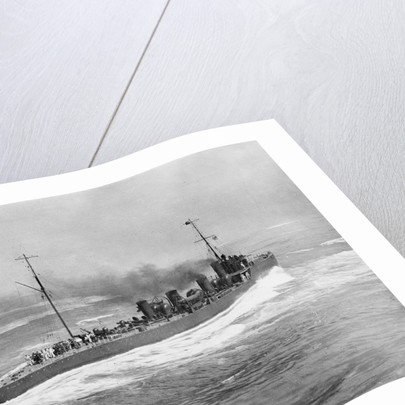 Torpedo boat destroyer HMS 'Nubian' (1909) by unknown
