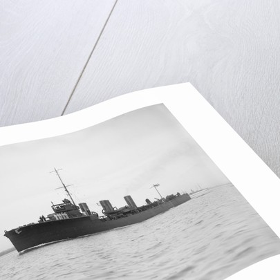 Torpedo boat destroyer HMS 'Meteor' (1914), under way in Southampton Water by unknown