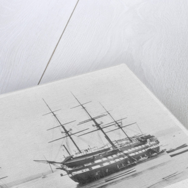 Detail of the repair to the main mast of 'Rover' (1832), an 18-gun ship sloop by unknown