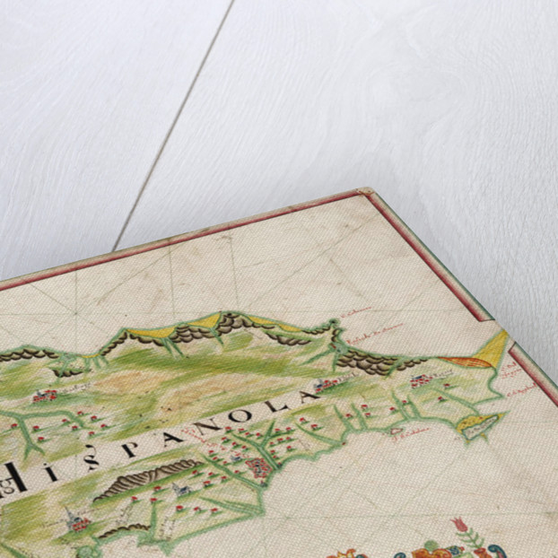 Map of Hispaniola, 1653 by Nicholas Comberford