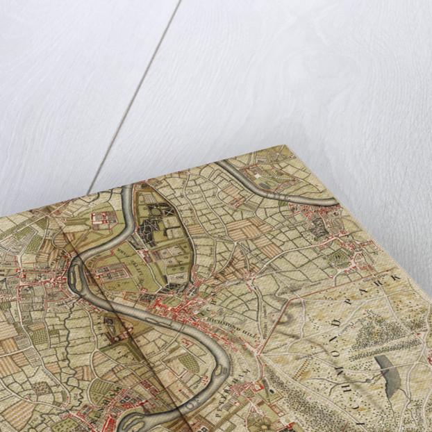 Map of Hounslow, Twickenham and Richmond by John Rocque