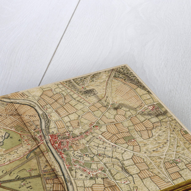 Map of Hampton Court, Kingston and Norbiton by John Rocque