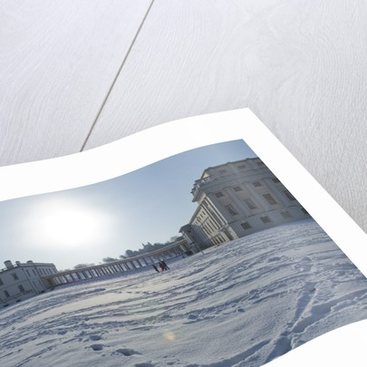 National Maritime Museum and Queen's House after heavy snowfall by National Maritime Museum Photo Studio