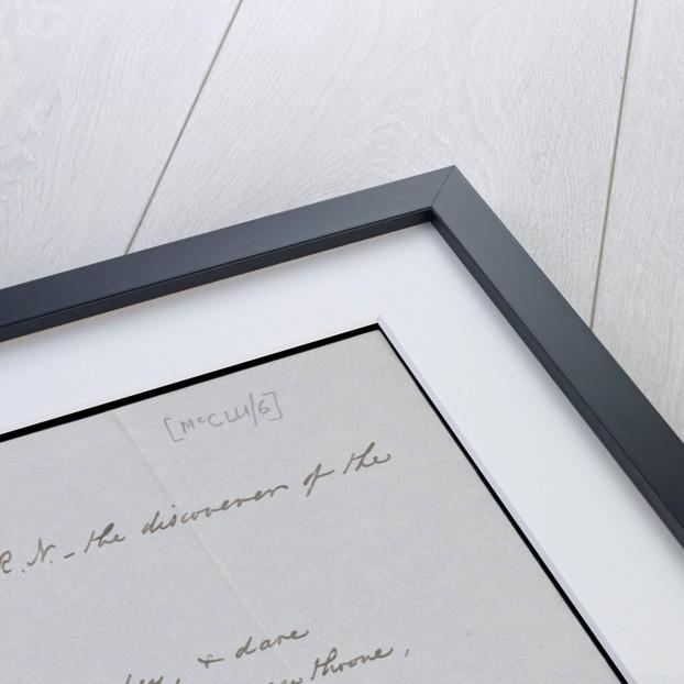 Sonnet addressed to Captain McClure by Robert John Le Mesurier Mcclure