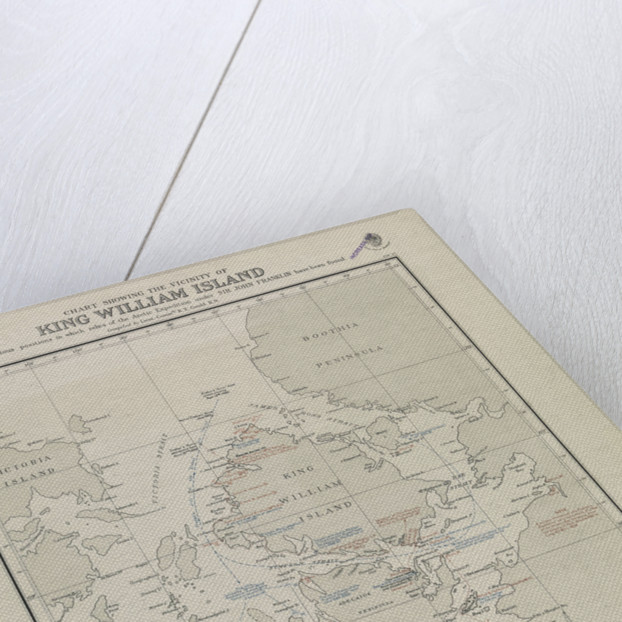 Gould map of King William Island, where Franklin relics were found by Gould