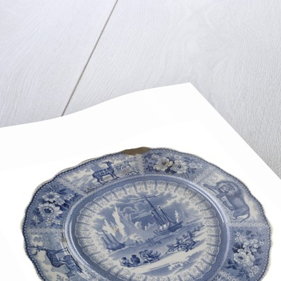 Dinner plate of the 'Arctic Scenery' pattern by unknown