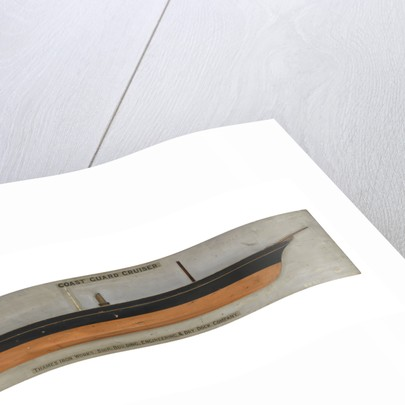 Model of a coast guard cruiser by unknown