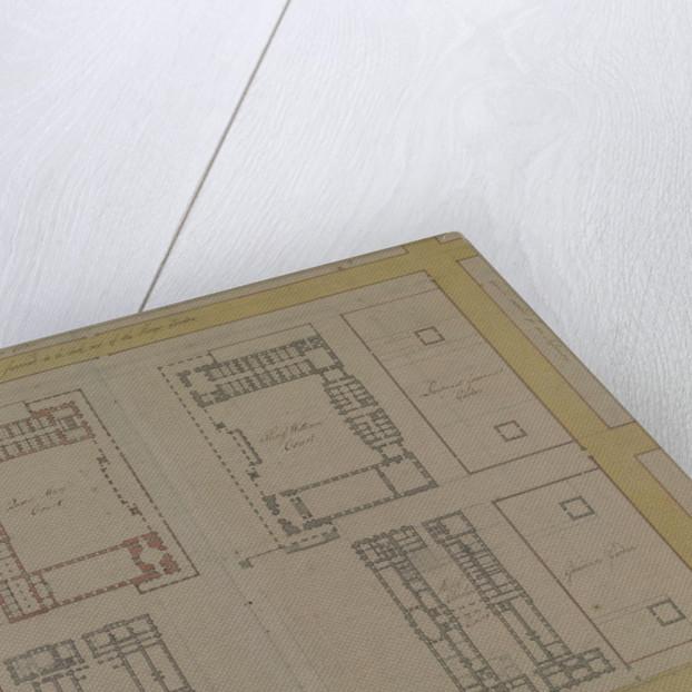 Thomas Ripley's plan of Queen Mary Block, Greenwich Hospital by Thomas Ripley