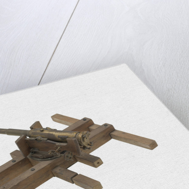 Sectional model; Gun model by unknown