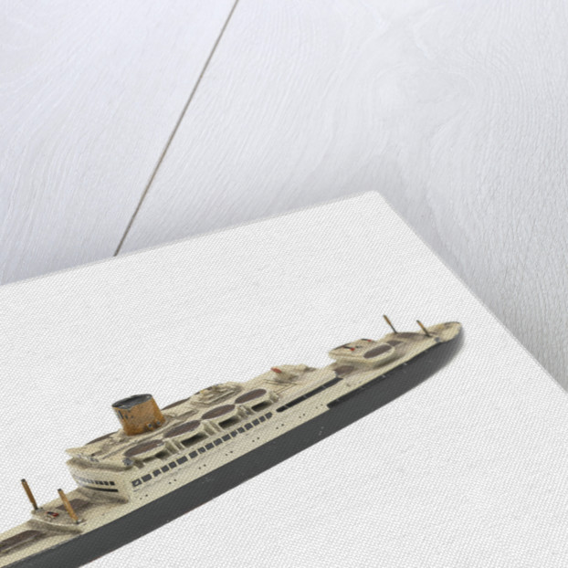 Waterline model; Miniature model by Wikino