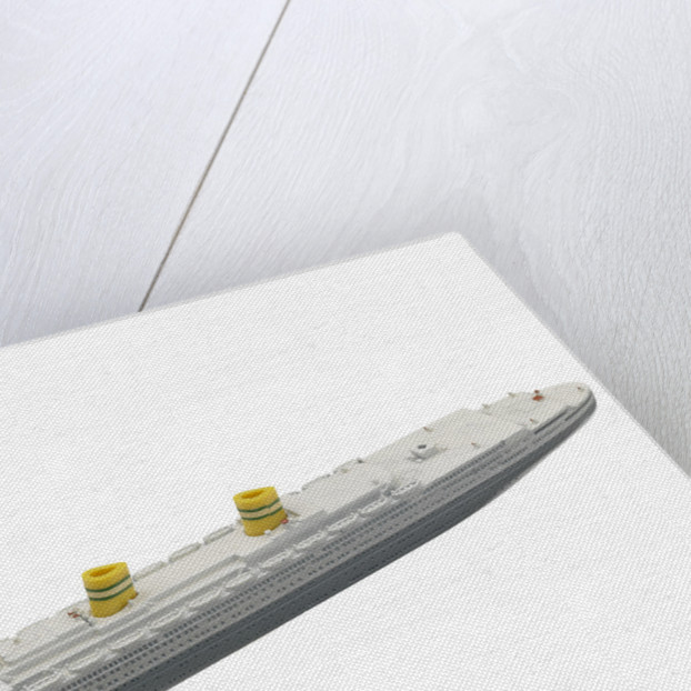 Waterline model; Miniature model by Tri-ang