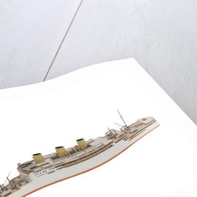 Waterline model; Miniature model by Reginald Carpenter