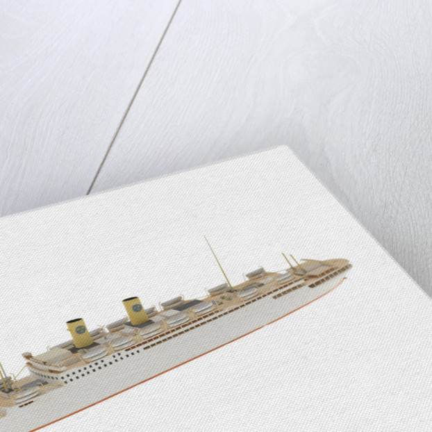 'Gripsholm' (1925); Passenger vessel by Reginald Carpenter