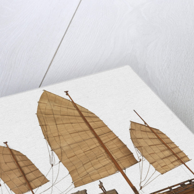 A model of a cargo vessel; Junk, Upper Yangtze by unknown
