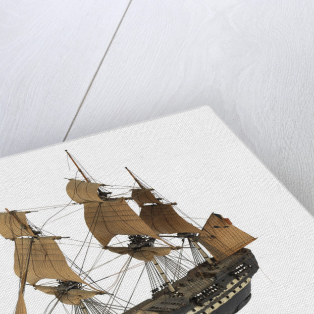 'Indomptable'; warship; 80 guns by William Haines