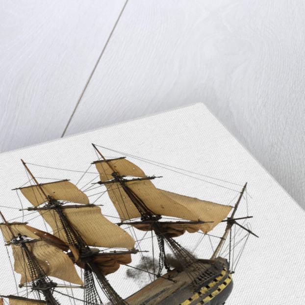 'San Ildefonso'; warship; 74 guns by William Haines