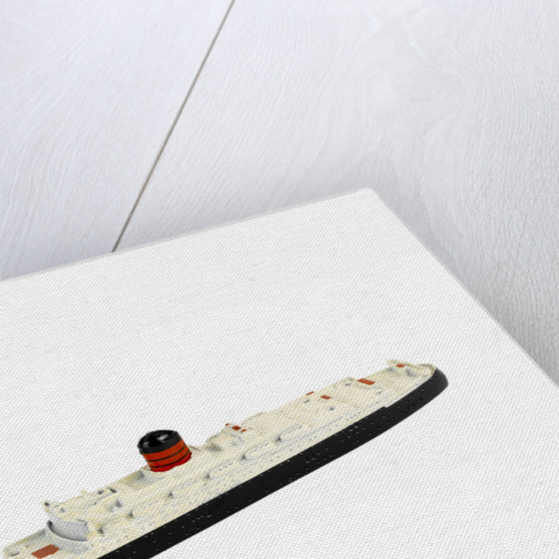 Model of passenger liner RMS 'Ivernia' (1954) by Tri-ang