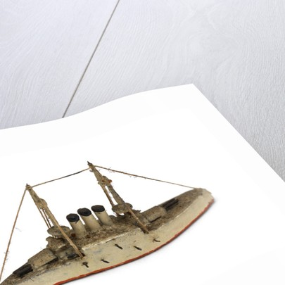 Instructional waterline recognition model of Japanese battleship HIJMS 'Hatsuse' (1897) by Gerald John Blake