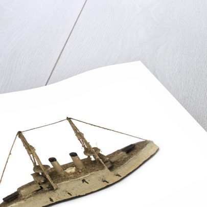 Instructional waterline recognition model of Japanese battleship HIJMS 'Shikishima' (1898) by Gerald John Blake