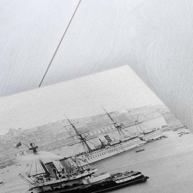 A starboard bow view of 'Dreadnought' (1875) by unknown