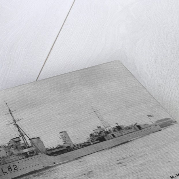HMS 'Sikh' (1937) under way in Portsmouth Harbour by unknown