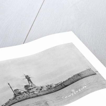 German battlecruiser 'Hindenburg' 1915, at anchor in Scapa Flow by unknown