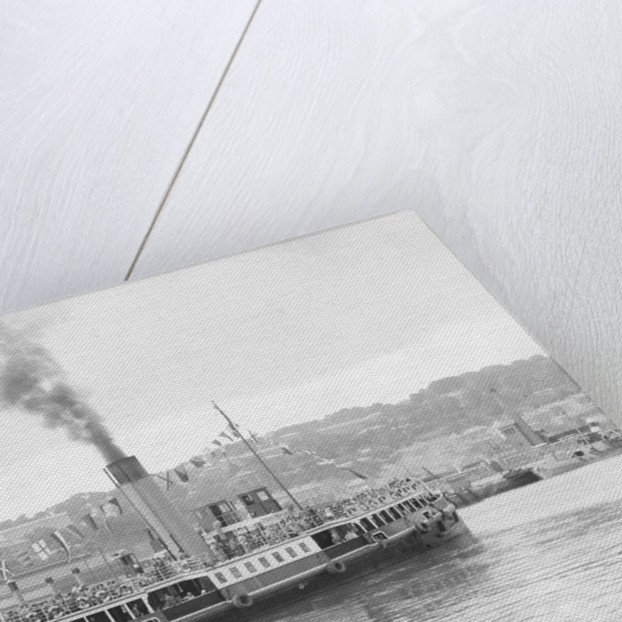 The 'Royal Iris' (Br, 1906) under way in Cork harbour, dressed overall by unknown