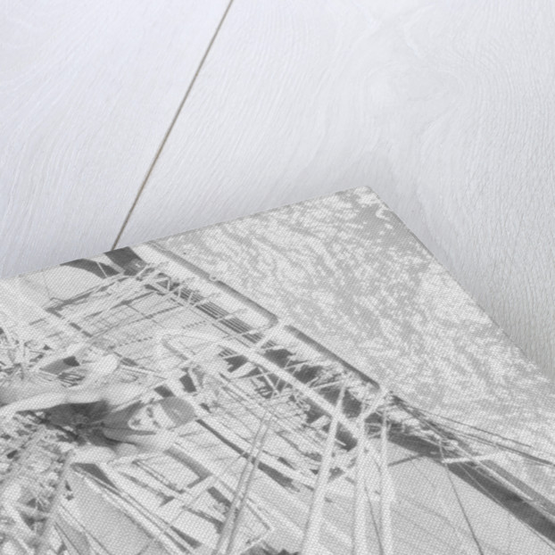 Looking down the shrouds of the fore topmast on the starboard side 'Herzogin Cecilie' (Fi, 1902) by Alan Villiers